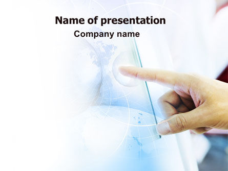 Business Identity PowerPoint Template, 06104, Technology and Science — PoweredTemplate.com