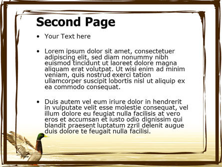 River Duck PowerPoint Template, Slide 2, 06105, Animals and Pets — PoweredTemplate.com