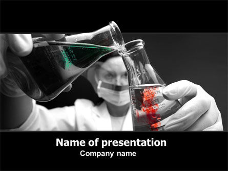 Technology and Science: Chemical Reaction PowerPoint Template #06106