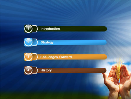 Wheat Cone PowerPoint Template Slide 3