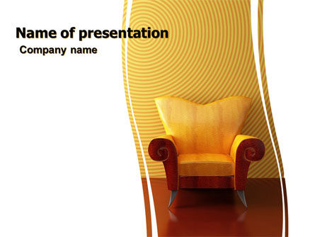 Business Concepts: Modern Armchair PowerPoint Template #06110