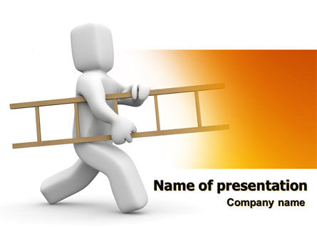 Ladder Man PowerPoint Template