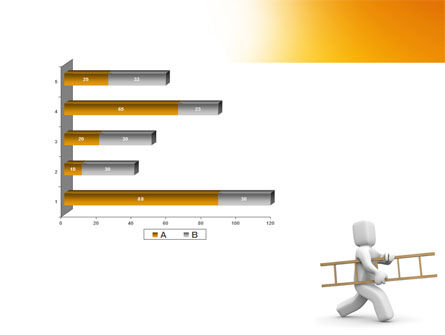 Ladder Man PowerPoint Template Slide 11