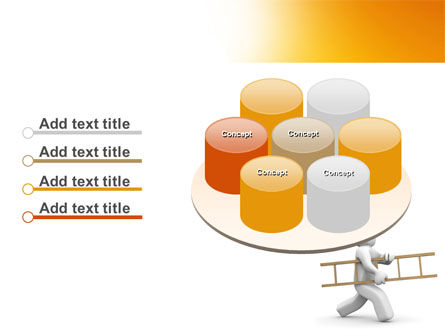 Ladder Man PowerPoint Template Slide 12