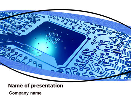 Technology and Science: System On Chip PowerPoint Template #06113