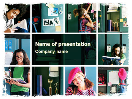 School Studying PowerPoint Template