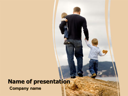 Father and Kids PowerPoint Template