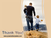 Father and Kids PowerPoint Template#20