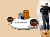 Father and Kids PowerPoint Template#6
