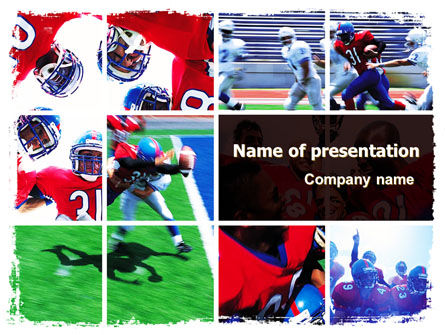 Sports: American Football Team PowerPoint Template #06120