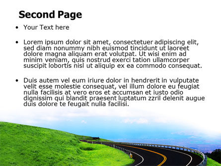 Mountain Highway PowerPoint Template, Slide 2, 06122, Construction — PoweredTemplate.com