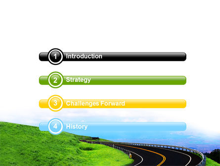 Mountain Highway PowerPoint Template, Slide 3, 06122, Construction — PoweredTemplate.com