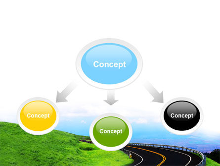 Mountain Highway PowerPoint Template, Slide 4, 06122, Construction — PoweredTemplate.com