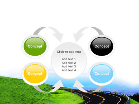 Mountain Highway PowerPoint Template Slide 6