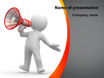 Careers/Industry: Public Speaker PowerPoint Template #06124