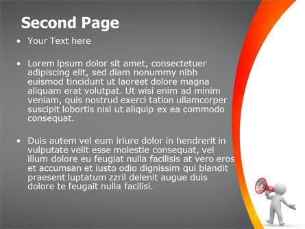 Public Speaker PowerPoint Template Slide 2