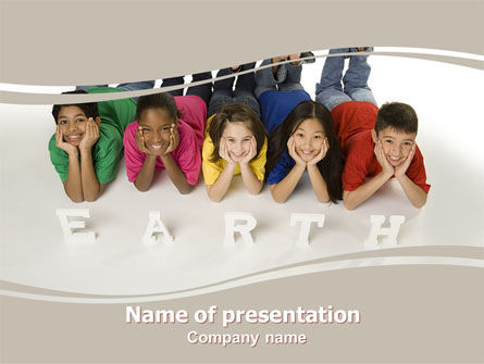 Children of Earth PowerPoint Template, 06126, Education & Training — PoweredTemplate.com