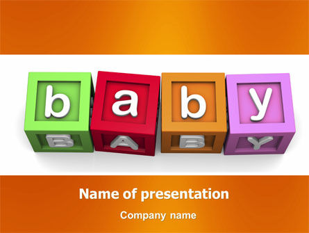 Baby Cubes PowerPoint Template, 06127, Education & Training — PoweredTemplate.com