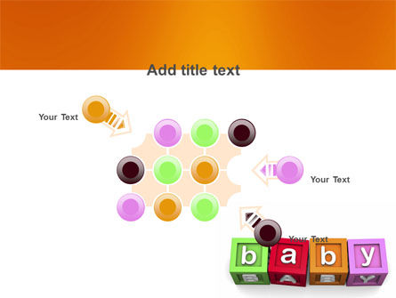 Baby Cubes PowerPoint Template Slide 10