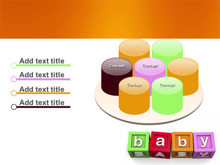 Baby Cubes PowerPoint Template Slide 12