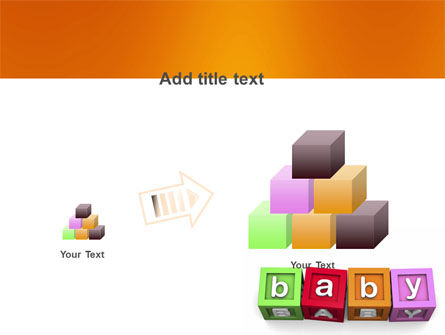 Baby Cubes PowerPoint Template Slide 13