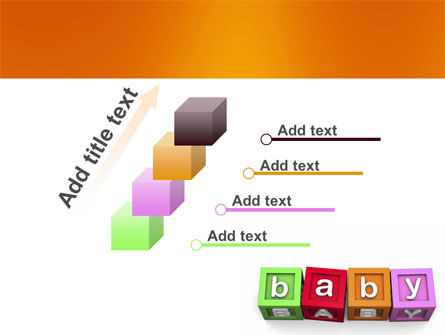 Baby Cubes PowerPoint Template Slide 14