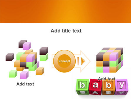 Baby Cubes PowerPoint Template Slide 17