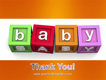 Baby Cubes PowerPoint Template Slide 20