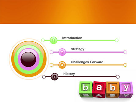 Baby Cubes PowerPoint Template, Slide 3, 06127, Education & Training — PoweredTemplate.com