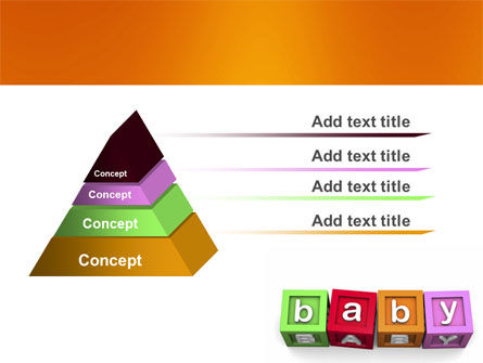 Baby Cubes PowerPoint Template, Slide 4, 06127, Education & Training — PoweredTemplate.com