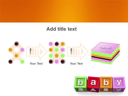 Baby Cubes PowerPoint Template Slide 9