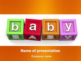 Education & Training: Baby Cubes PowerPoint Template #06127