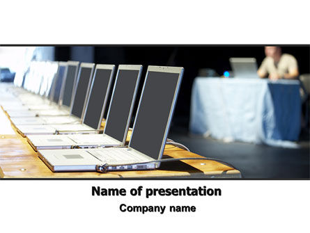 Computers: Computer Conference PowerPoint Template #06129