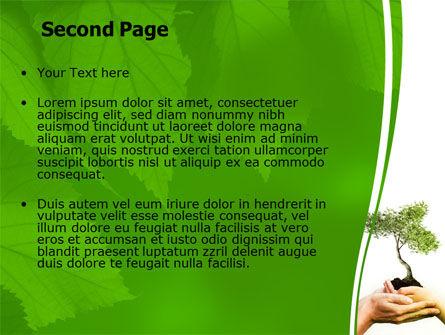 Growth PowerPoint Template, Slide 2, 06130, Nature & Environment — PoweredTemplate.com