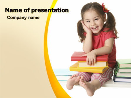 Little Reader PowerPoint Template, 06131, Education & Training — PoweredTemplate.com