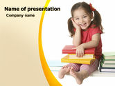 Education & Training: Little Reader PowerPoint Template #06131