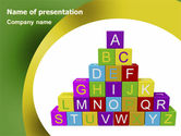 Education & Training: Alphabet Pyramid PowerPoint Template #06132