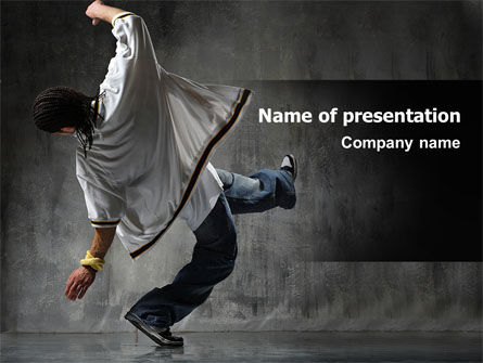 Break Dance On The Street PowerPoint Template