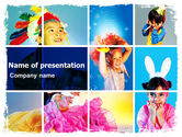 Holiday/Special Occasion: Kids Costumes PowerPoint Template #06135