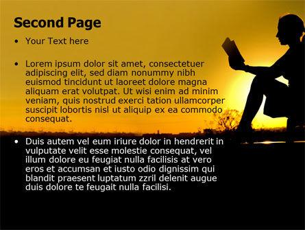 Sunset Reading PowerPoint Template, Slide 2, 06136, Religious/Spiritual — PoweredTemplate.com