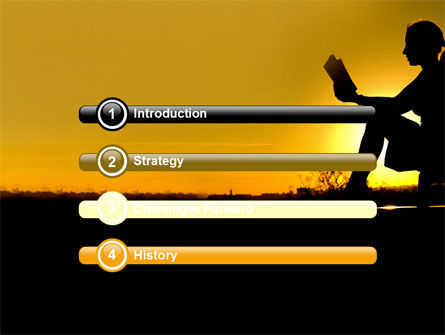 Sunset Reading PowerPoint Template, Slide 3, 06136, Religious/Spiritual — PoweredTemplate.com