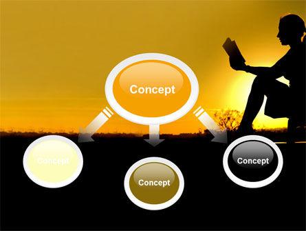 Sunset Reading PowerPoint Template, Slide 4, 06136, Religious/Spiritual — PoweredTemplate.com