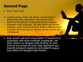 Sunset Reading PowerPoint Template#2
