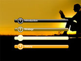 Sunset Reading PowerPoint Template#3