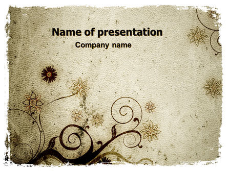 Abstract/Textures: Bloemen Ontwerp PowerPoint Template #06137