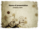 Abstract/Textures: Floral Design PowerPoint Template #06137
