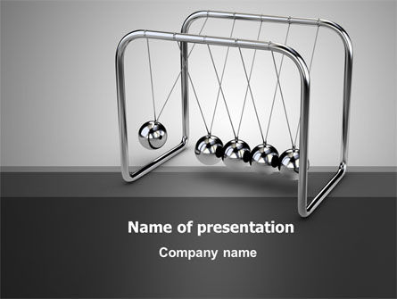 Newton's Cradle PowerPoint Template
