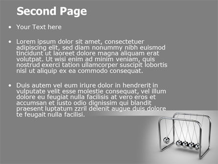 Newton's Cradle PowerPoint Template Slide 2