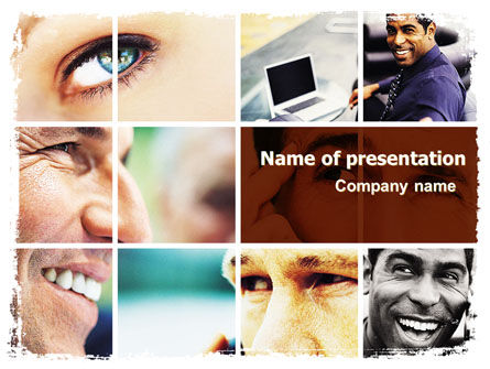 Eyes PowerPoint Template, 06140, People — PoweredTemplate.com