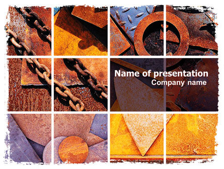 Utilities/Industrial: Rust PowerPoint Template #06141